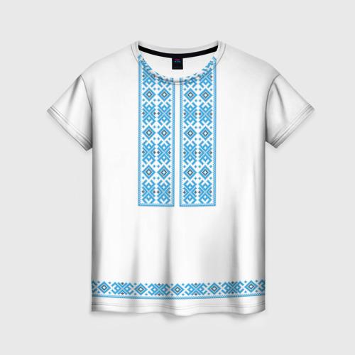 Женская футболка 3D Вышивка 32