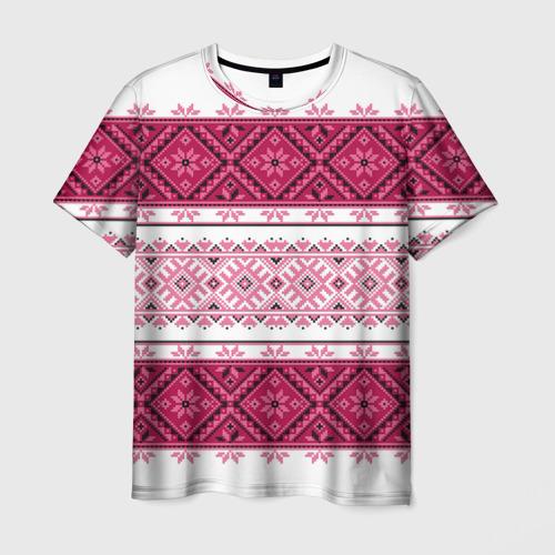 Мужская футболка 3D Вышивка 34