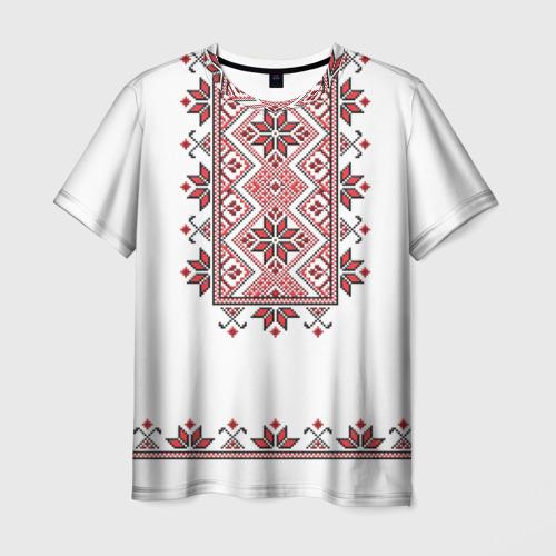 Мужская футболка 3D Вышивка 41