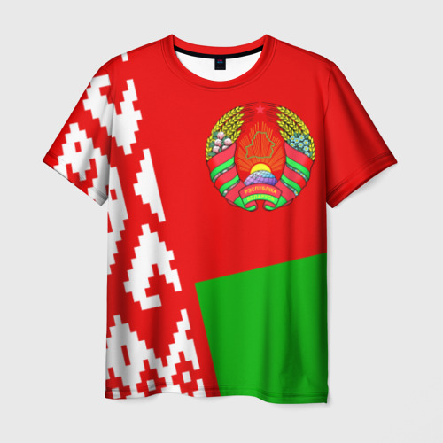 Мужская футболка 3D Беларусь 2