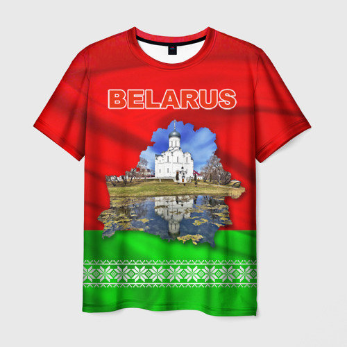 Мужская футболка 3D Belarus 13