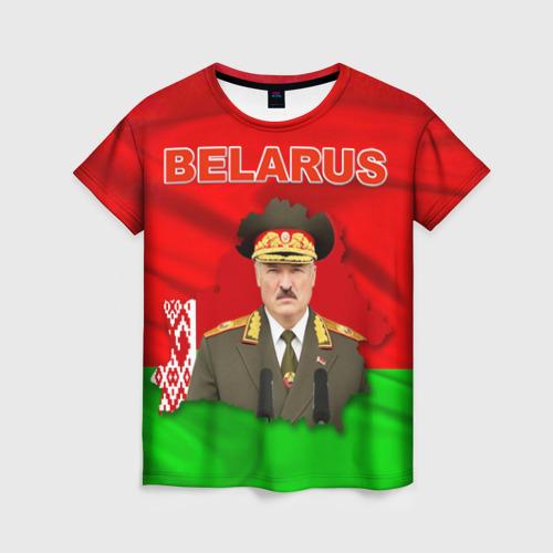 Женская футболка 3D Belarus 17