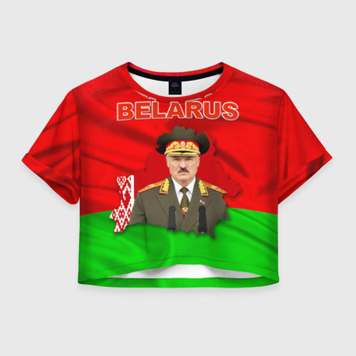 Женская футболка Crop-top 3D Belarus 17