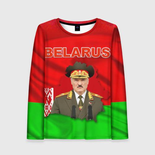 Женский лонгслив 3D Belarus 17
