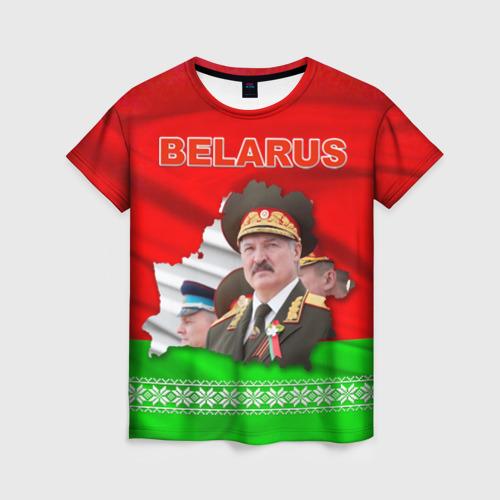 Женская футболка 3D Belarus 18