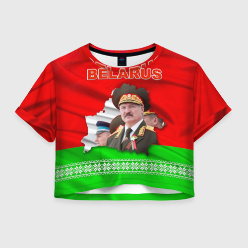 Женская футболка Crop-top 3D Belarus 18