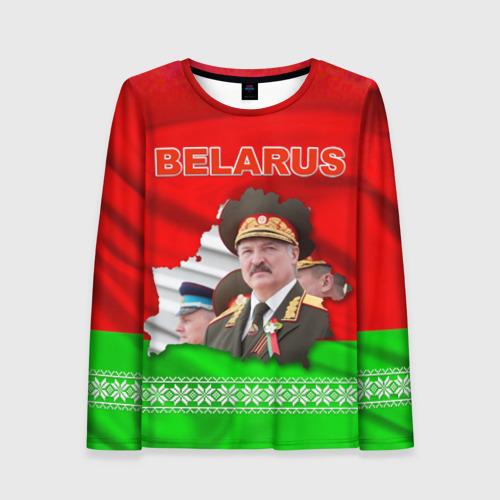 Женский лонгслив 3D Belarus 18
