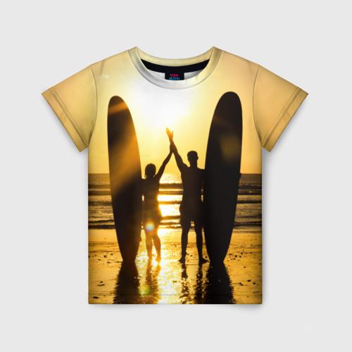 Детская футболка 3D Сёрфинг