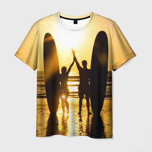 Мужская футболка 3D Сёрфинг
