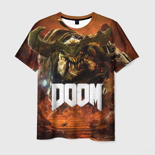 Мужская футболка 3D Doom 4 Hell Cyberdemon