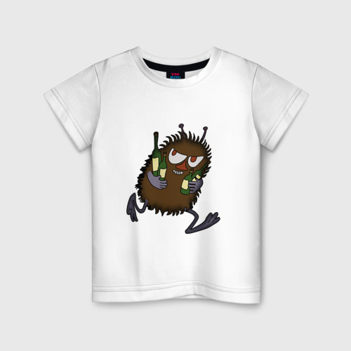 Детская футболка хлопок Вонючка Стинки с бутылками