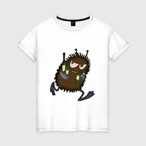 Женская футболка хлопок Вонючка Стинки с бутылками