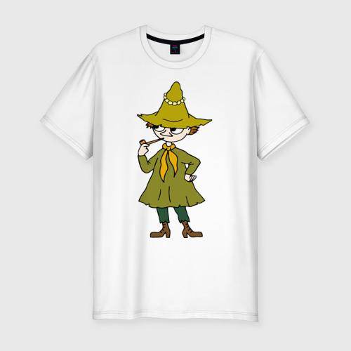 Мужская футболка хлопок Slim Снусмумрик