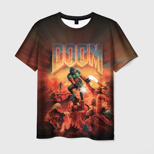 Мужская футболка 3D Doom 1993