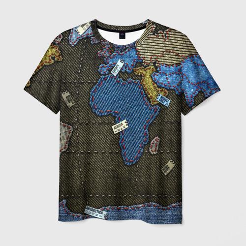 Мужская футболка 3D Мир джинс