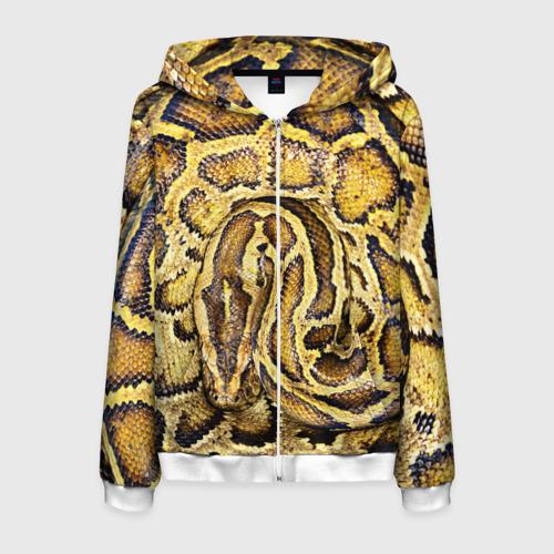 Мужская толстовка 3D на молнии Змея