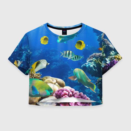 Женская футболка Crop-top 3D Дайвинг