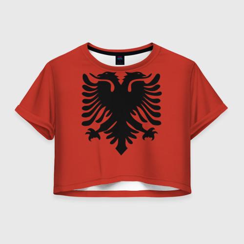 Женская футболка Crop-top 3D Сборная Албания