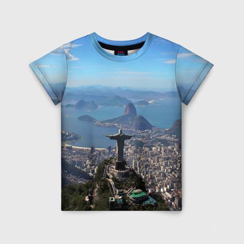 Детская футболка 3D Рио-де-Жанейро
