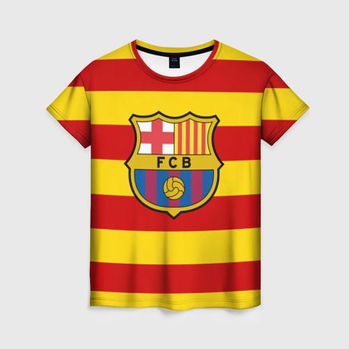 Женская футболка 3D Барселона (каталония)