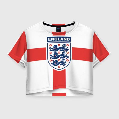 Женская футболка Crop-top 3D Сборная Англии