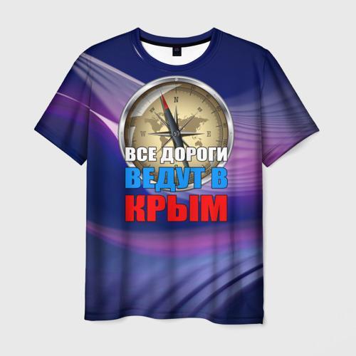 Мужская футболка 3D Крым