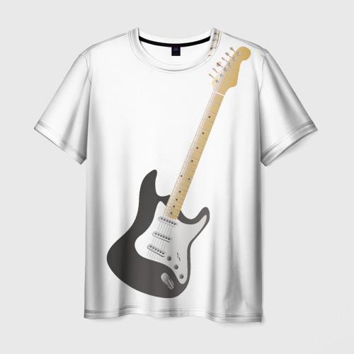 Мужская футболка 3D Электрогитара