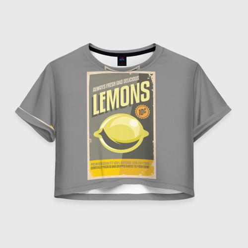 Женская футболка Crop-top 3D Правильное питание