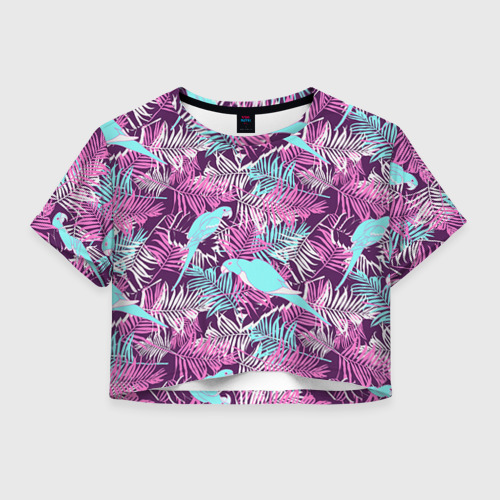 Женская футболка Crop-top 3D Summer paradise