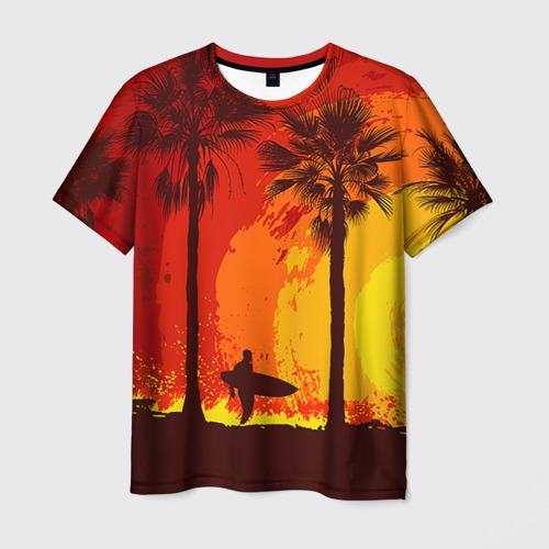 Мужская футболка 3D Summer Surf