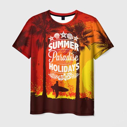 Мужская футболка 3D Summer Surf 2