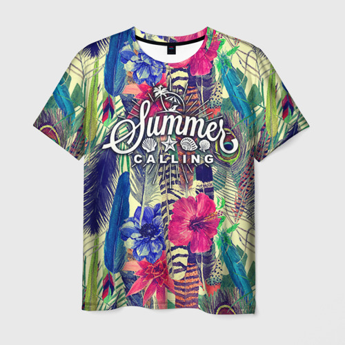 Мужская футболка 3D Summer time 2