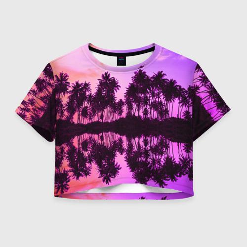 Женская футболка Crop-top 3D Hawaii dream
