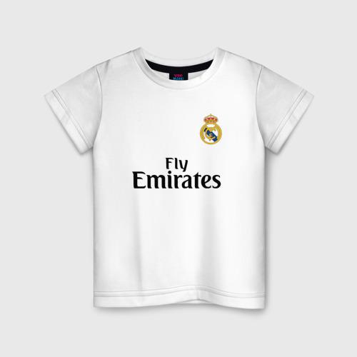 Детская футболка хлопок Роналду форма