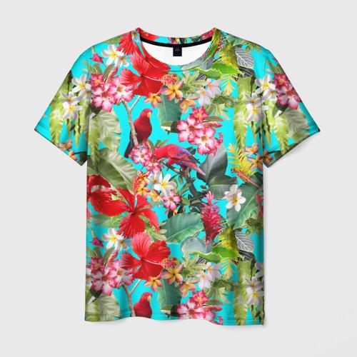 Мужская футболка 3D Тропический мир
