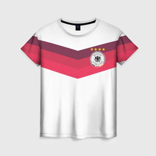 Женская футболка 3D Сборная Германии по футболу