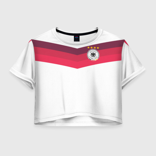 Женская футболка Crop-top 3D Сборная Германии по футболу