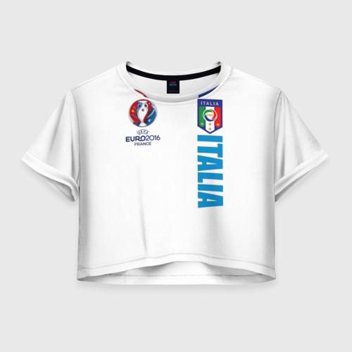 Женская футболка Crop-top 3D Евро 2016
