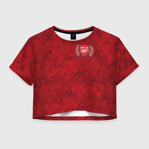Женская футболка Crop-top 3D Arsenal