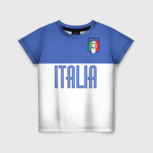 Детская футболка 3D Сборная Италии по футболу