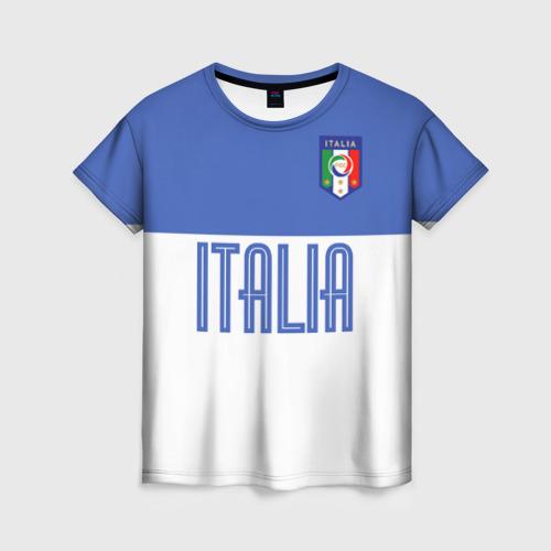 Женская футболка 3D Сборная Италии по футболу