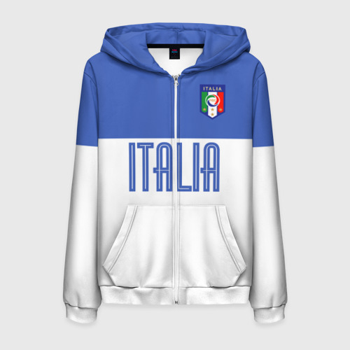 Мужская толстовка 3D на молнии Сборная Италии по футболу