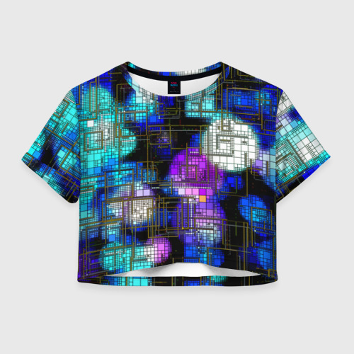 Женская футболка Crop-top 3D Плата
