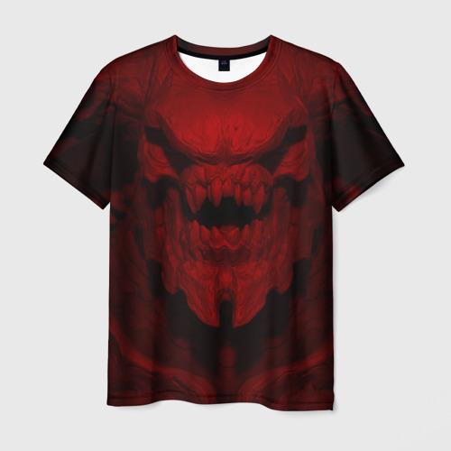 Мужская футболка 3D Кибердемон