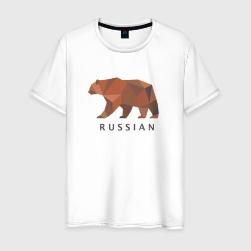 Мужская футболка хлопок Russian bear
