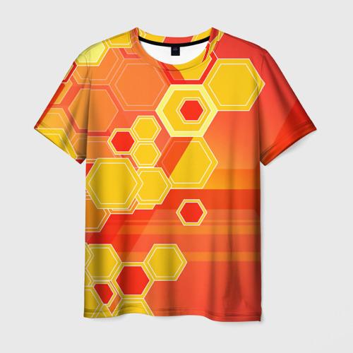 Мужская футболка 3D Соты
