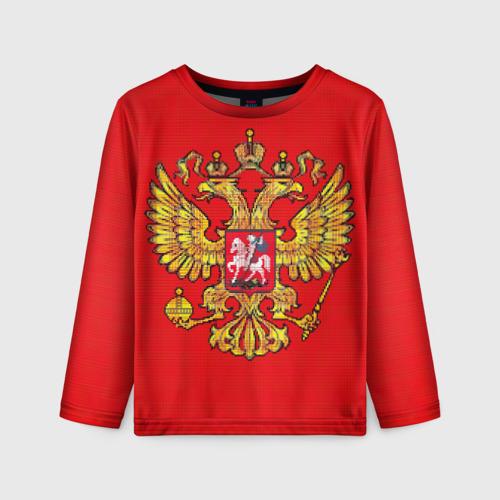 Детский лонгслив 3D Герб России