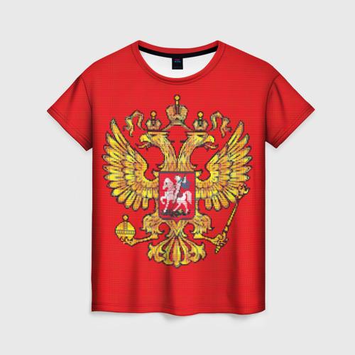 Женская футболка 3D Герб России
