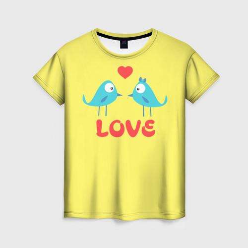 Женская футболка 3D LOVE