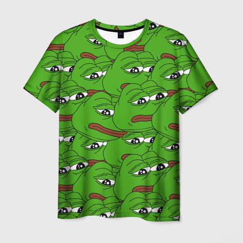 Мужская футболка 3D Sad frogs